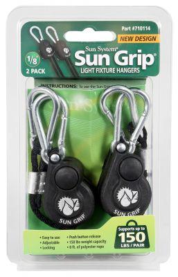 """Sun Grip Light Hangers 1/8"""" - Push Button"""