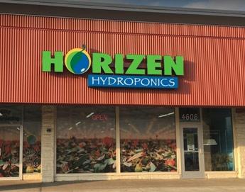 Horizen Hydroponics Kalamazoo MI Storefront